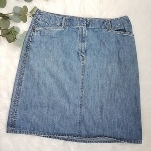 TALBOTS Denim Jean Skirt Size 16